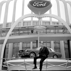 Henry Ford II revealing the 1964 Mustang at the World's Fair in
