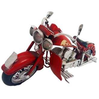 Miniatura-Motocicleta-Harley-Style-Vermelha-Cód-293701