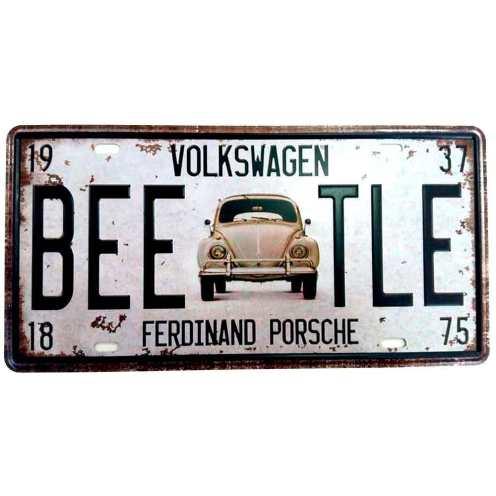Placa-de-Carro-Fusca-VW-Fernand-Porsche-Cod-338301 - Cópia