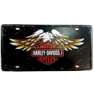 Placa-de-Carro-Harley-Davidson-Aguia-Cod-338901 - Cópia