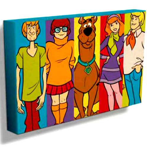Quadro-Tela-Turma-Scooby-Doo-Cód-310101